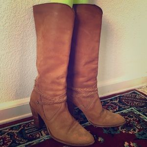 Suede Leather Tan Boots
